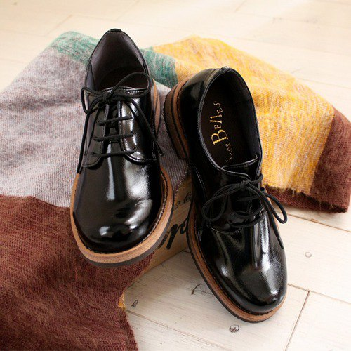 Gloss feeling of adult Soft mannish shoes (3301) Made in Japan domestic materials 【Delivery time 5 to 30 days】