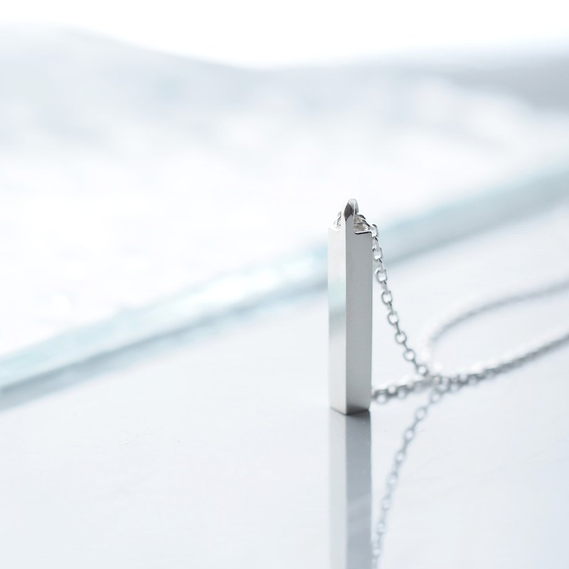 Rectangular necklace 925 Silver