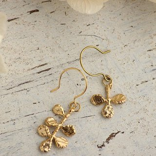 K18GP Bud Botanical Earrings
