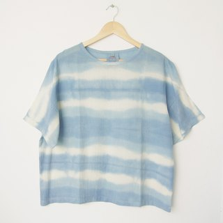 linnil: Indigo blue river short-sleeve shirt