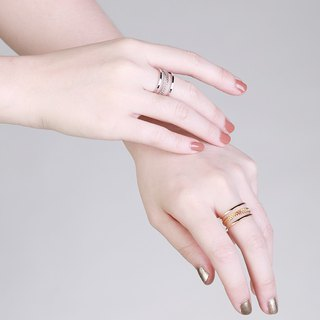 Eva Twisted Gold/Silver Ring
