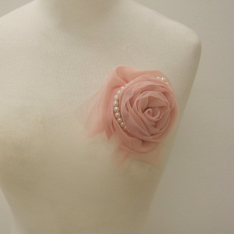 pearl and pink rose Flower corsage brooch pins,prom,wedding corsage,boutonniere