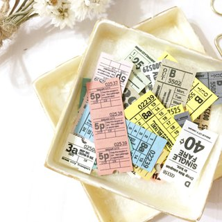 50 sheets Miniature tickets Vintage Metro ticket style
