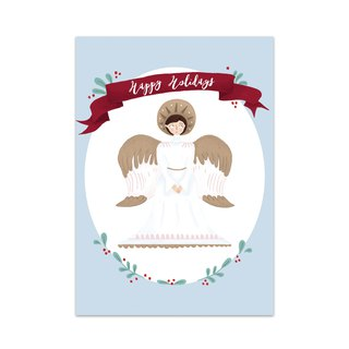 """Happy Holidays""Christmas Angel Card"