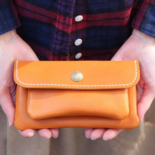 mare-wallet Camel Tochigi Leather Purse