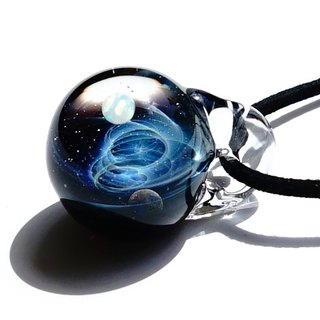 Two mysterious worlds of the planet Two types of opal glass pendant universe 【free shipping】