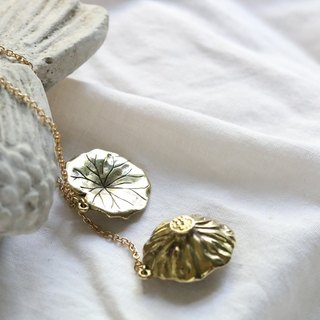 Lotus Necklace / Lotus Charm / Everyday Jewelry / Linen Jewlery.
