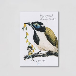 { BIRDER } 系列- Blue-faced Honeyeater