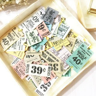 100 sheets Miniature tickets Vintage Metro ticket style
