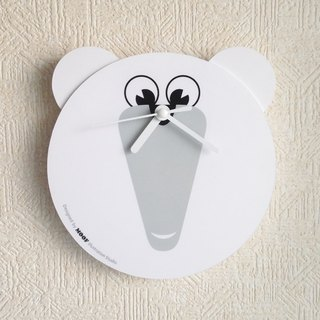 Muff Wall clock Illustration Dog Wall Clock Animal humorous Simple design
