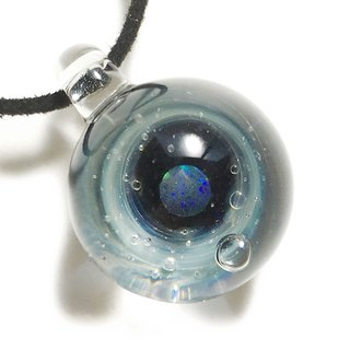 Planet's World # 4 Black Opal Contained Glass Pendant Universe