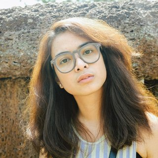 AUSSA's High Nose Wooden Acetate Glasses - Light Brown.