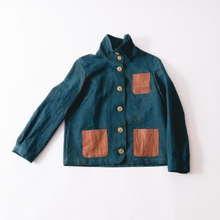Spring  blouson / natural dye dark green / mikawa cotton100%/jacket