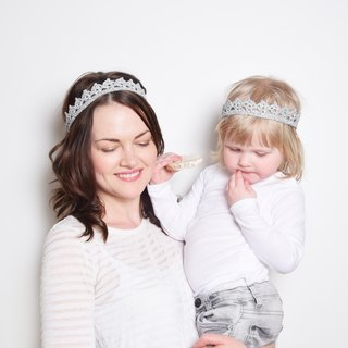 Mommy and Me Matching Silver Crown Headbands, Mom and Baby Tiaras