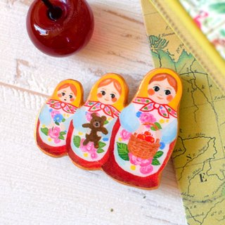 Matryoshka Doll Brooch  Russia  Fantastic Brooch
