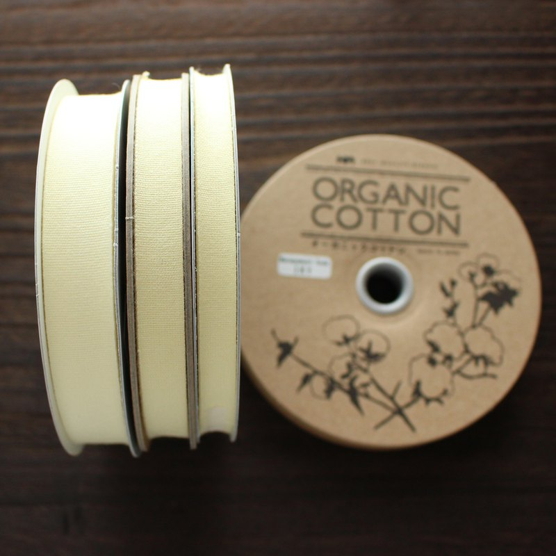 No,1101/#51 Organic Cottone Tape | Taffeta ribbon | woven in Japan  |sold by 20m