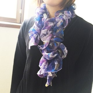 Ballett Kyoto Kyoto Little Stone Pattern Shearing Scarf Soft Chiffon Fabric Use