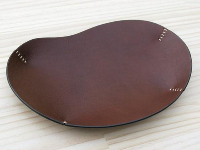 Leather tray thin · dark brown