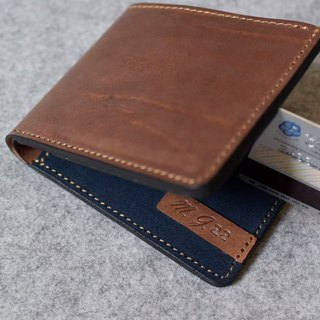 YOURS 真皮个性短夹Wallet 8卡+2个大内袋