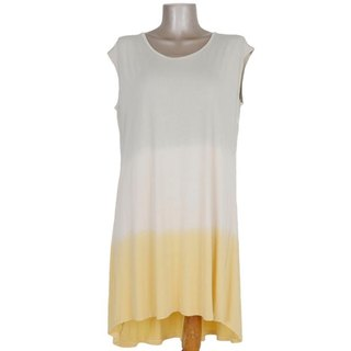 Gradation sleeveless dress <Jasmine yellow>