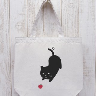 Knee Ten Zero Nyan Odekake Tote Aim is an apple (natural) / RIB 015