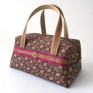 Boston bag with Japanese Traditional pattern, Kimono