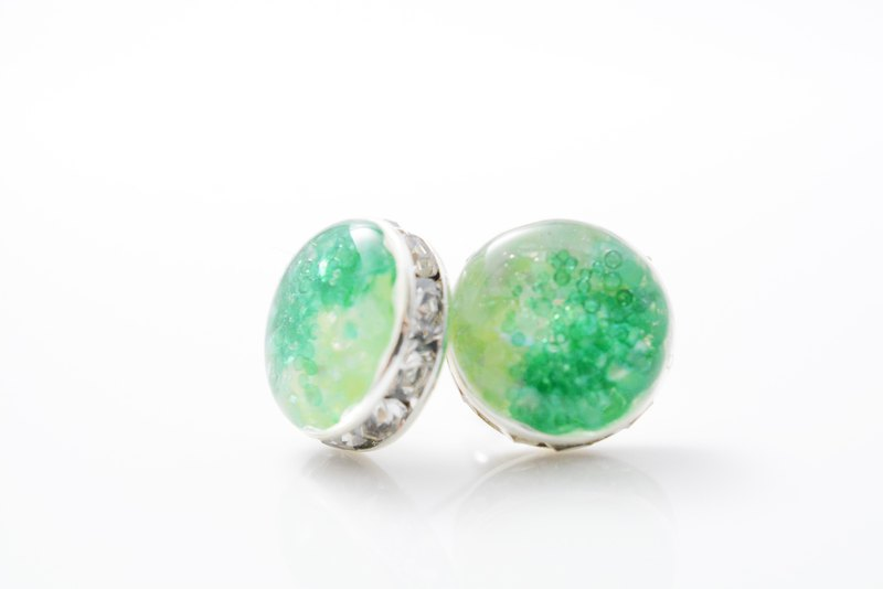 Fresh green earrings