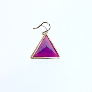 PRISM piercing earring for one ear gold,pink