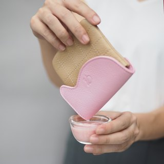 Waffle (Strawberry mousse) : Mini coin purse, softpink purse