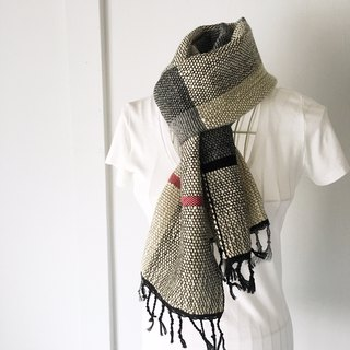 "Unisex hand-woven scarf ""Gray & Black Mix"""