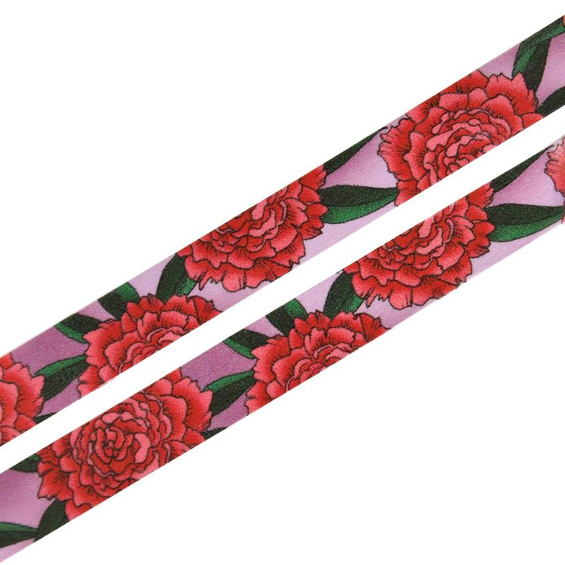 Blooming Peonies washi tape 15mmx10m - Hand drawn floral pattern