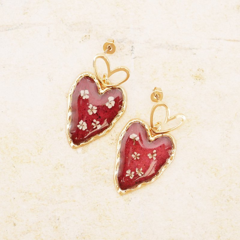 【Limited color】 heart earrings