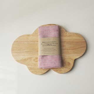 Cloud Chopping Board + Linen Kitchen Cloth (pink) Gift