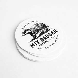 Filter017 x 九口山 Mix Badger Paper Coaster  米斯獾 厚纸杯垫