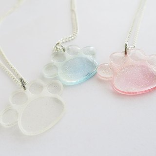 Glitter paws necklace