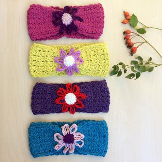 Girl headband, organic wool headband, earwarmer, baby girl hat, colorful