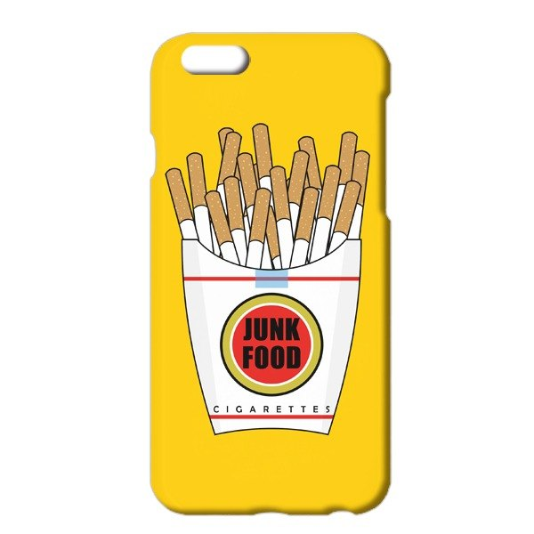 Free shipping [iPhone Cases] Junk Food yellow