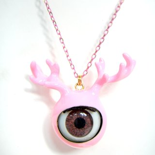 TIMBEE LO 黑色鹿角眼珠颈链 Antlers Eyeball  with Black Epoxy Necklace
