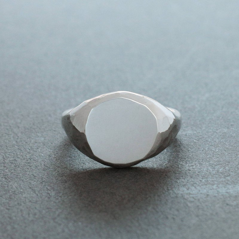 Faceted Signet Ring - 04