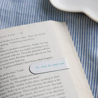 Magnet Bookmark - hi, nice to read you