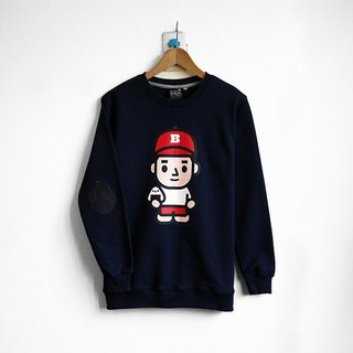 【BestFriend】ONIGIRI-BOY Long Sleeve Sweat / 长袖大学T (深蓝)