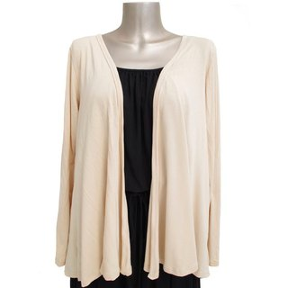 Viscose stretch topper cardigan <Peach>
