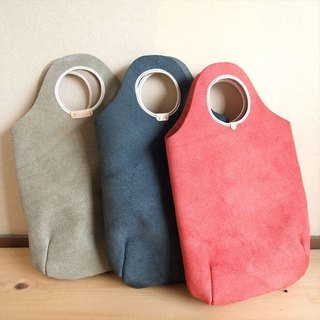 [Vertical] Floor Leather 【Round】 Leather Tote Bag 【A4 Size】 Floor Nume Leather 【Build-to-order】
