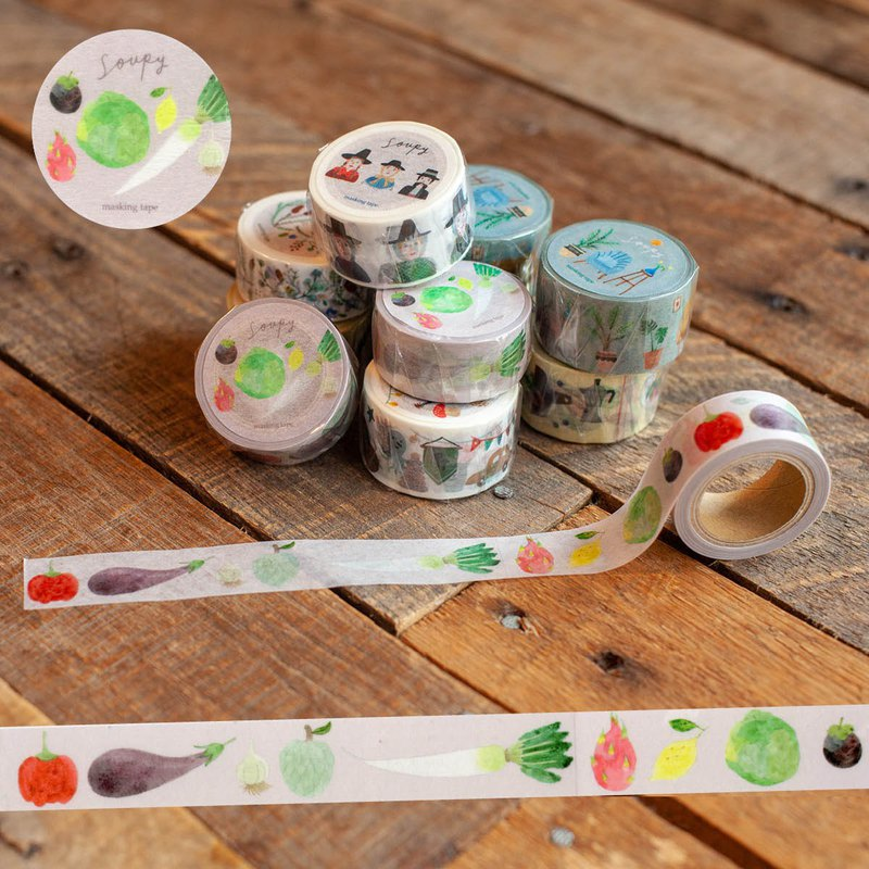 野菜纸胶带 Vegetables masking tape