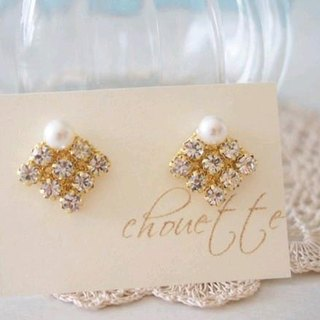Pearl & Bijou Earrings (Crystal)