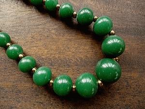 Vintage necklace Forest Green