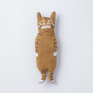 red tabby CAT stuffed animal pocket size | tea cats-chan nuigumi