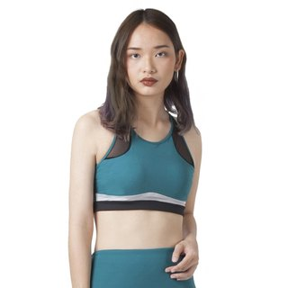Focus Bra in aquatic green