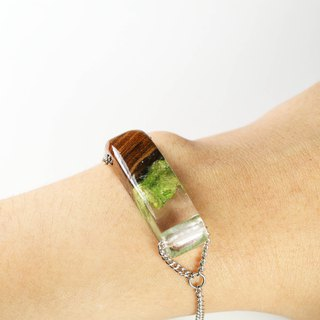 Under the sea - bracelet (from Long real moss & wooden)