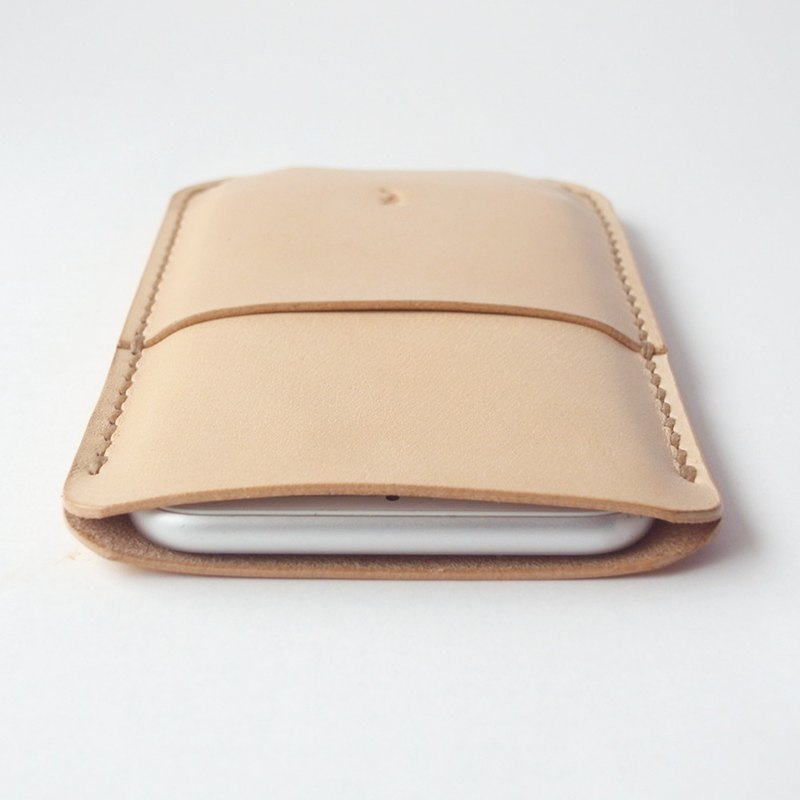 Production(生成り) leather smartphone case 【spot / すぽっと】 # hand stitch